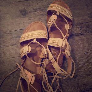 Franco Sarto tan gladiator sandals size 7.5